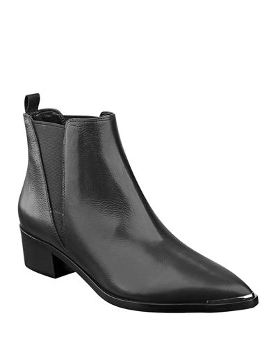 Yale Leather Pointed Booties