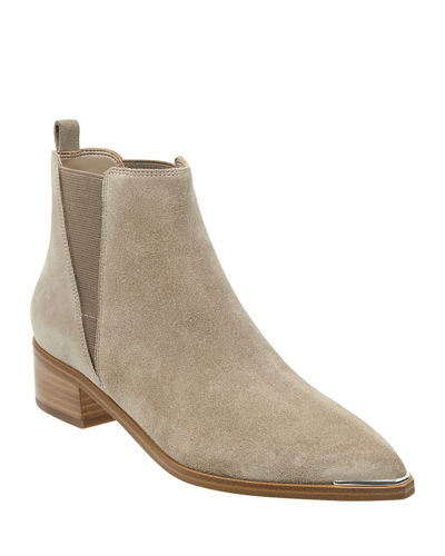 Yale Leather Pointed Chelsea Booties