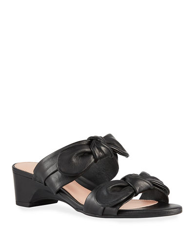 Nanette Bow Wedge Sandals