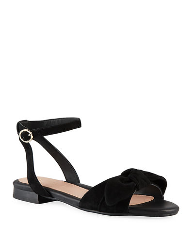 Velda Ankle-Strap Bow Sandals