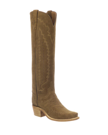 Lucchese Priscilla Suede Western Knee Boots