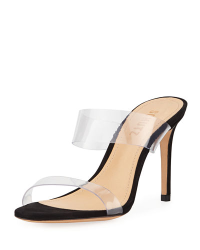 Ariella Strappy See-Through Vinyl Slide Sandals