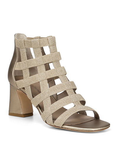 Visto Caged Block-Heel Sandals