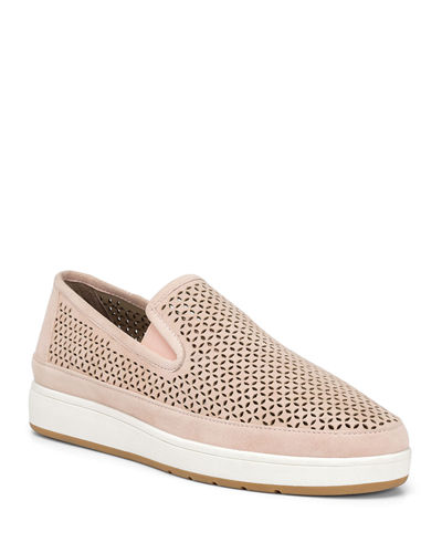 Maddox Perforated Suede Slip-On Sneakers