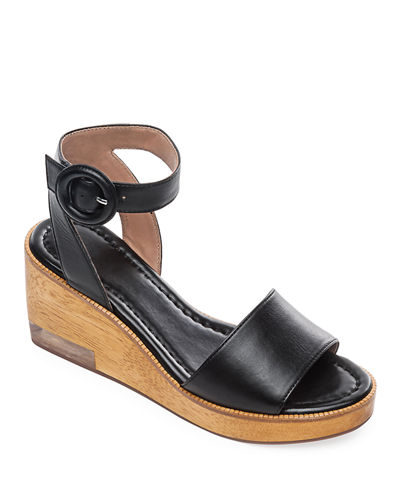 Kate Wedge Ankle-Wrap Sandals