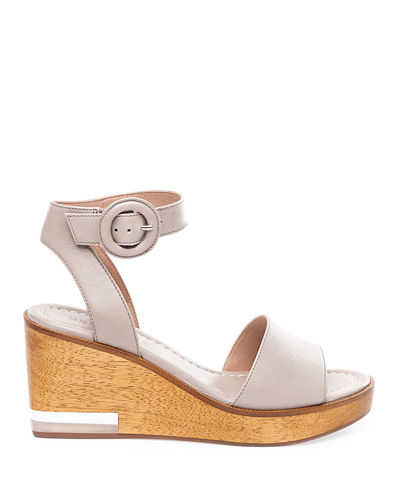 Bernardo Kate Wedge Ankle-Wrap Sandals