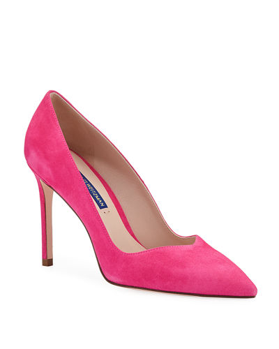 5f91f64ff3b Quick Look. Stuart Weitzman · Anny Suede Pointed-Toe Pumps