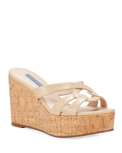Cadence Patent Leather Wedge Sandals