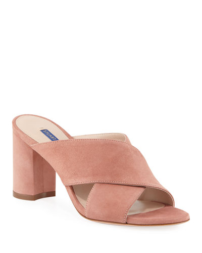 Galene Suede Crisscross Slide Sandals