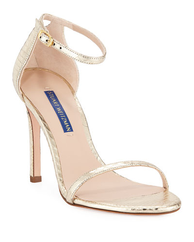 be3f9d1efd4a9 Ankle Strap Leather Snakeskin Sandals