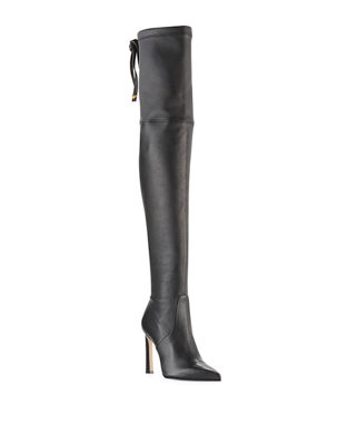 bec0456bc00 Stuart Weitzman Natalia 100mm Leather Over-The-Knee Boots