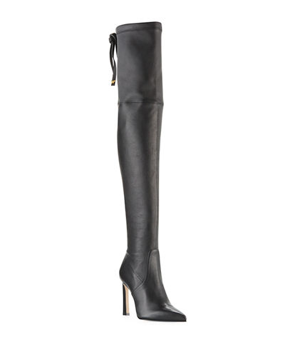 Natalia 100mm Leather Over-The-Knee Boots