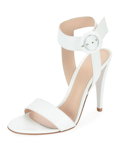 Elyse Leather Ankle-Wrap 105mm Sandals