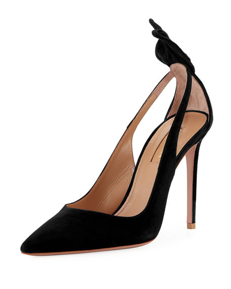 Image 1 of 2: Aquazzura Deneuve Suede 105mm Pumps
