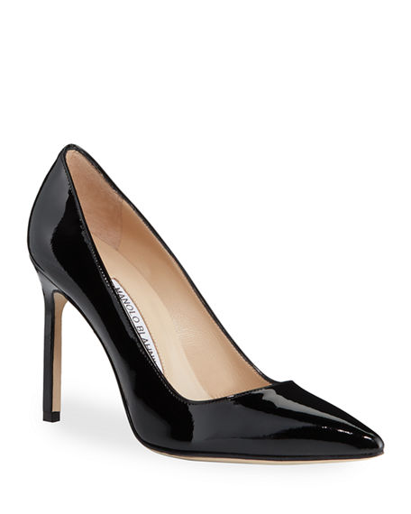MANOLO BLAHNIK BB PATENT 105MM POINTED-TOE PUMP,PROD217900183