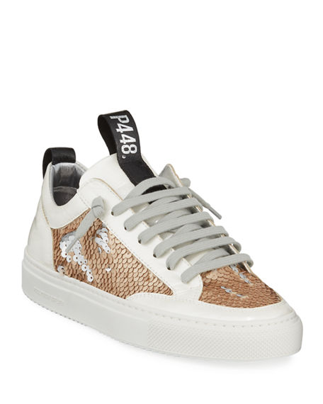 P448 Sneakers SOHO EMBELLISHED PATENT LEATHER SNEAKERS