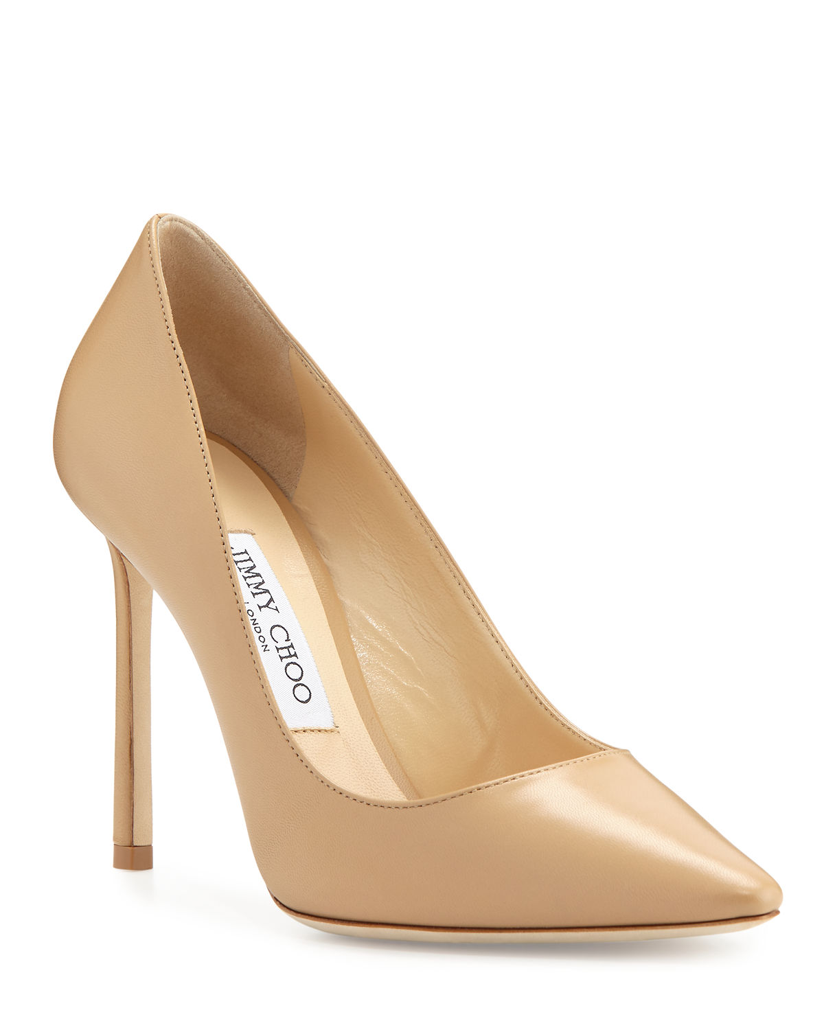 Romy 100mm Leather Pumps