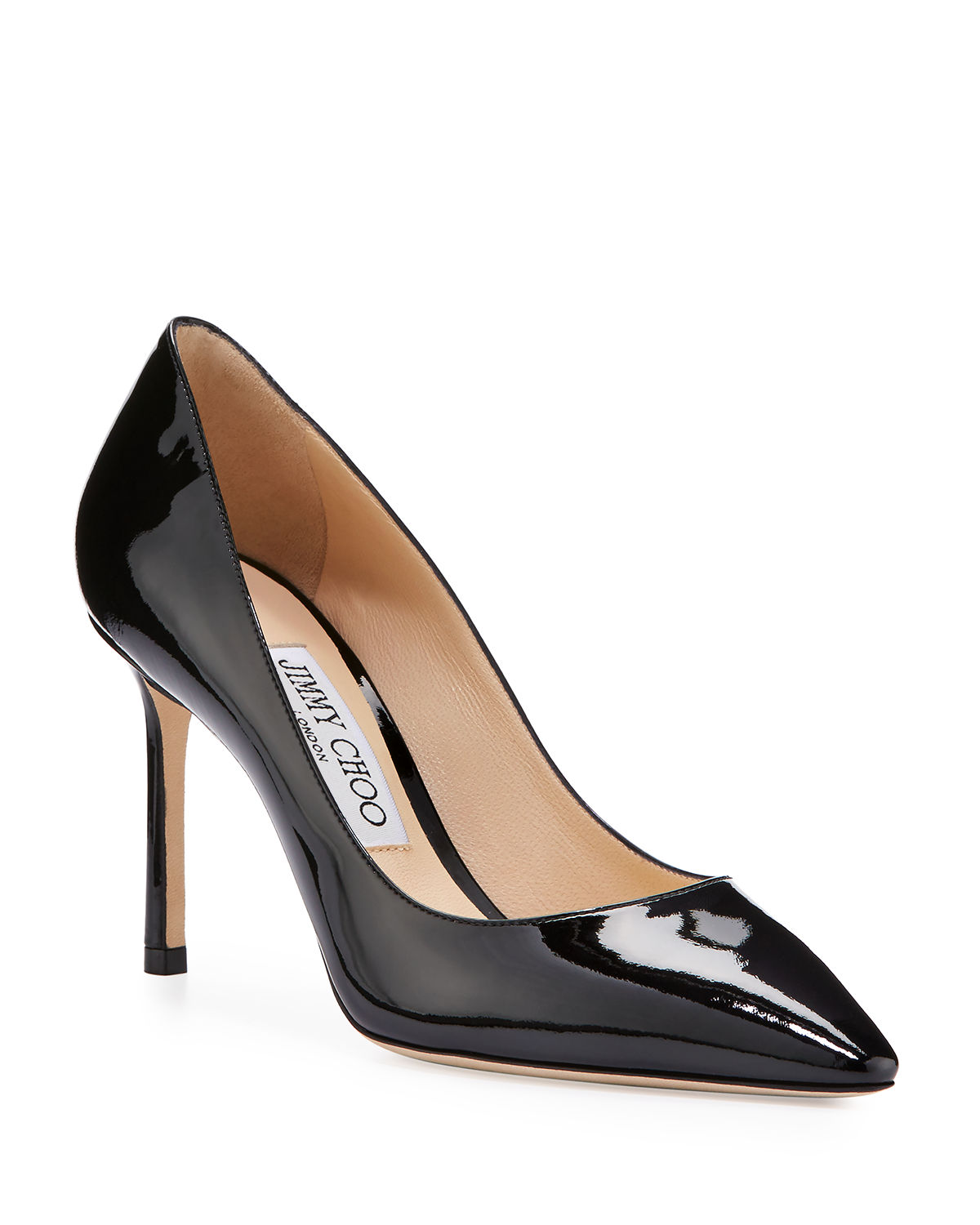 e5618801d Jimmy Choo Romy Patent Pointed-Toe 85mm Pump | Neiman Marcus