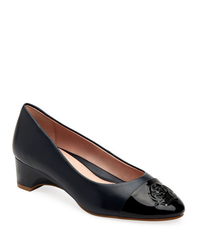 Babe Patent-Capped Leather Ballet Pumps