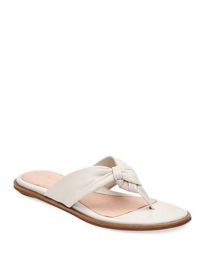 Karissa Leather Twisted Thong Sandals