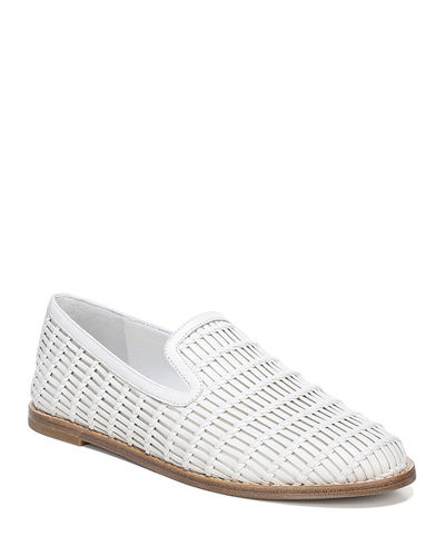 Jonah Flat Woven Leather Loafers