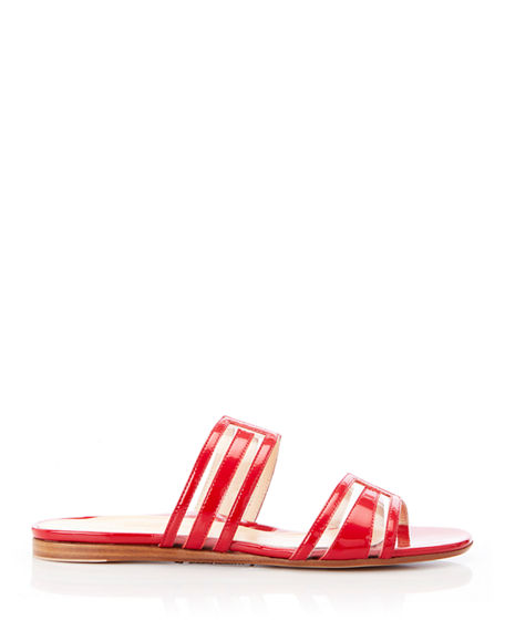 Image 2 of 3: Marion Parke Jojo Geometric Patent Leather Sandals