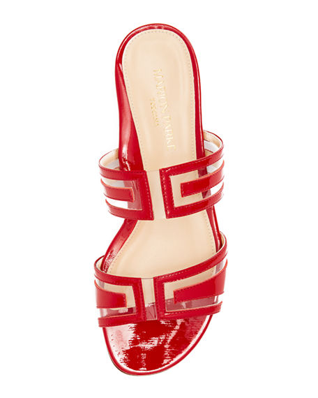 Image 3 of 3: Marion Parke Jojo Geometric Patent Leather Sandals