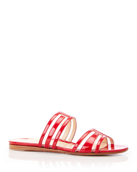 Image 1 of 3: Marion Parke Jojo Geometric Patent Leather Sandals