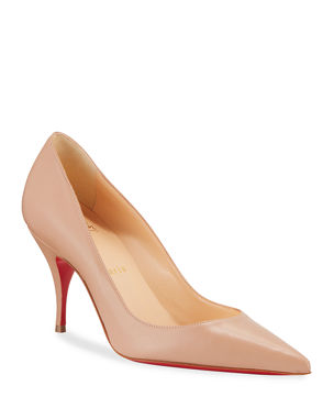 dd2de875666a Christian Louboutin Clare 80 Leather Red Sole Pumps