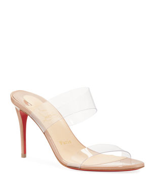 8d2c3e5463a94 Christian Louboutin Just Nothing Illusion Red Sole Sandals