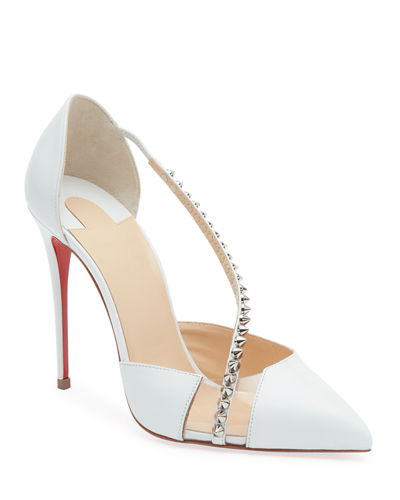 Christian Louboutin Spike Cross Red Sole Pumps
