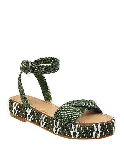 Jaiyce Braided Leather Platform Sandals