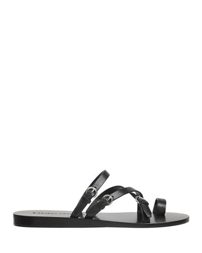 Sigerson Morrison Kaley Polished Leather Strappy Sandals