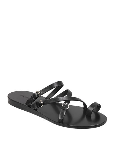 Kaley Polished Leather Strappy Sandals
