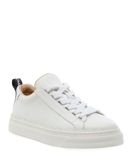 Chloe Lauren Low-Top Leather Sneakers