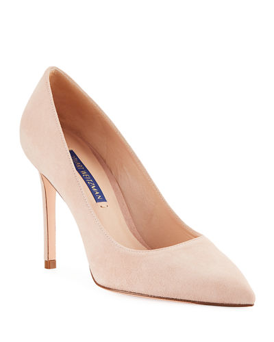 Leigh 95mm Suede Pumps