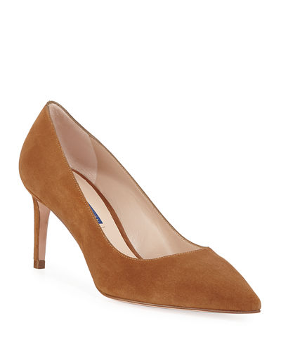 Leigh 70mm Suede Pumps