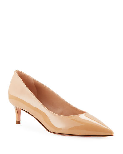 Stuart Weitzman Leigh 45mm Patent Leather Pumps