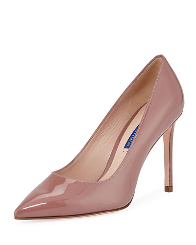 Leigh 95mm Patent Leather Pumps