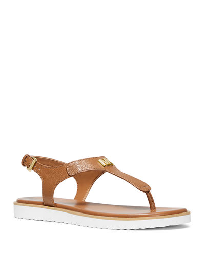 Brady Flat Leather Thong Sandals