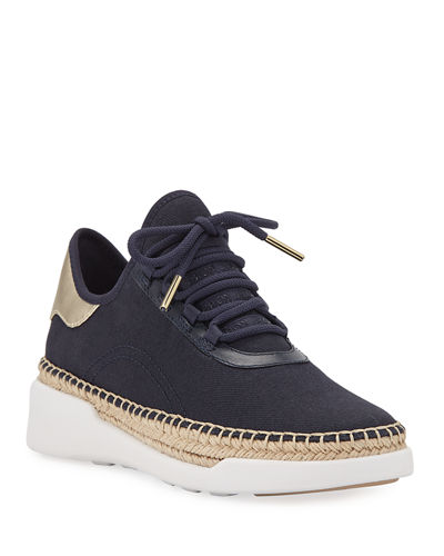 Finch Lace-Up Wedge Espadrille Sneakers
