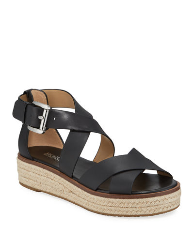 Darby Leather Flatform Espadrille Sandals