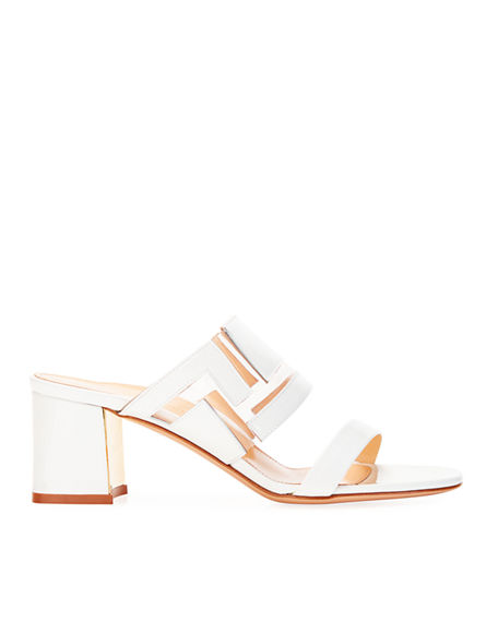 Image 2 of 3: Marion Parke Bailey Geometric PVC Slide Sandals