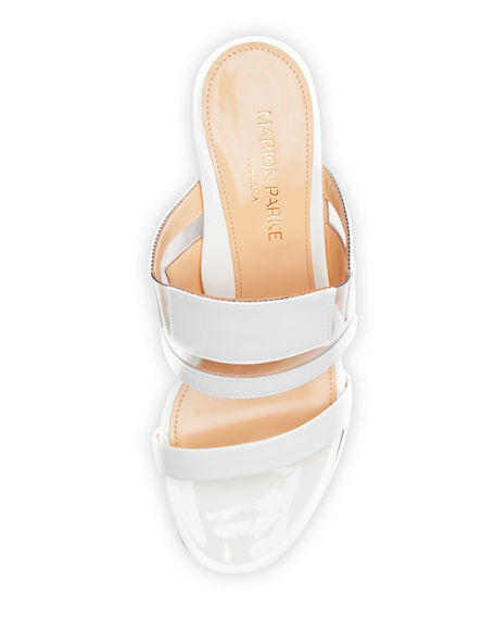 Image 3 of 3: Marion Parke Bailey Geometric PVC Slide Sandals