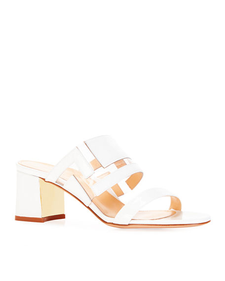 Image 1 of 3: Marion Parke Bailey Geometric PVC Slide Sandals