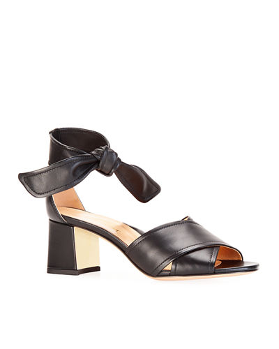 Bella Crisscross Ankle-Tie Sandals