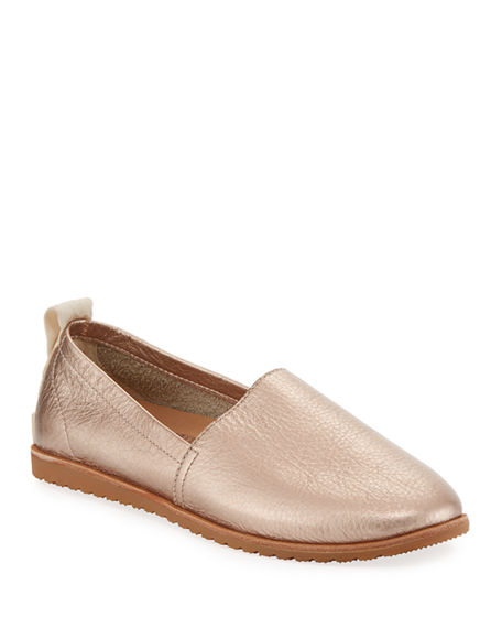 Sorel Flats ELLA METALLIC LEATHER SLIP-ON SNEAKER FLATS