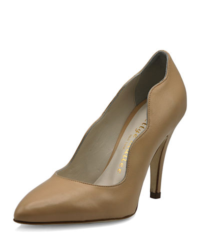 Gentry Scalloped Leather Pumps