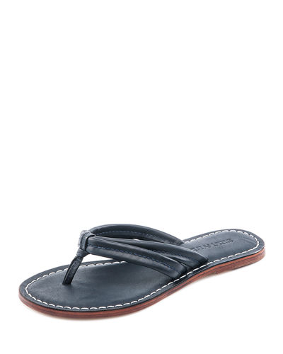 Miami Leather Slide Sandals