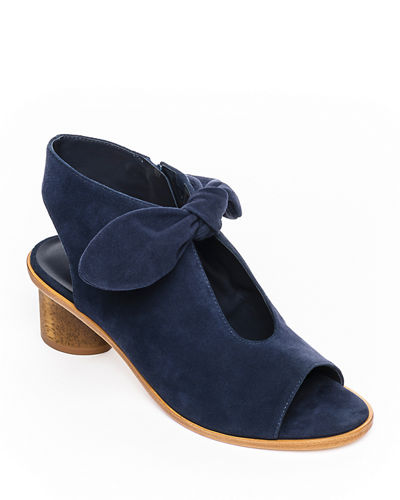 Luna Suede Knotted Booties